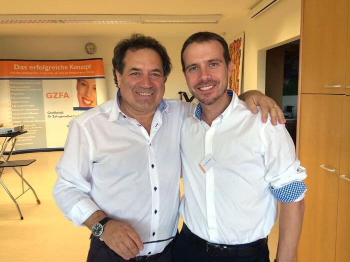 El Dr. José Luis Padrós amb Franz Weis, desenvolupador del sistema Dros Konzept