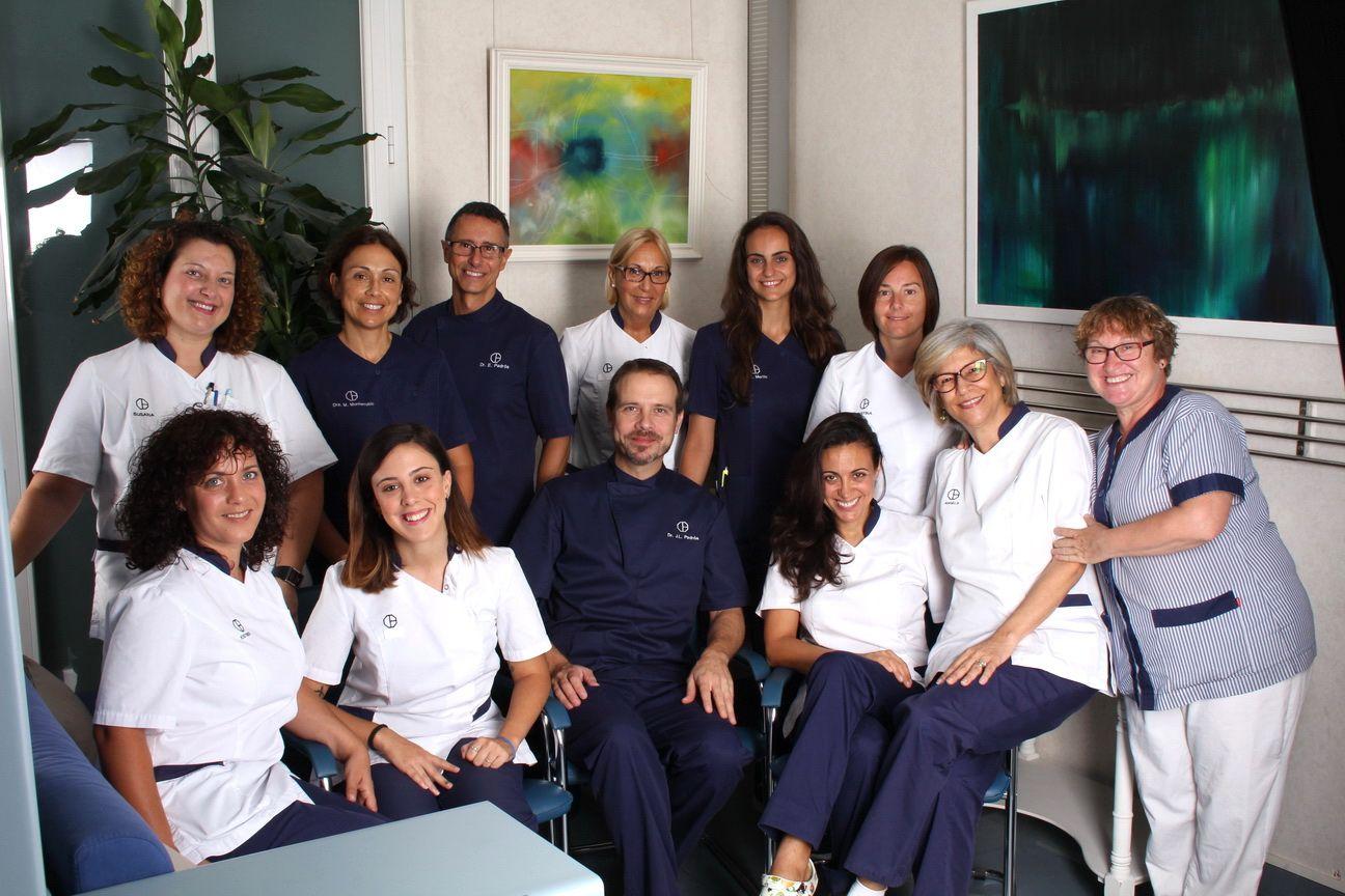 Aquest es l'equip humà del millor dentista a Barcelona, l'equip de la Clínica Dental Padrós