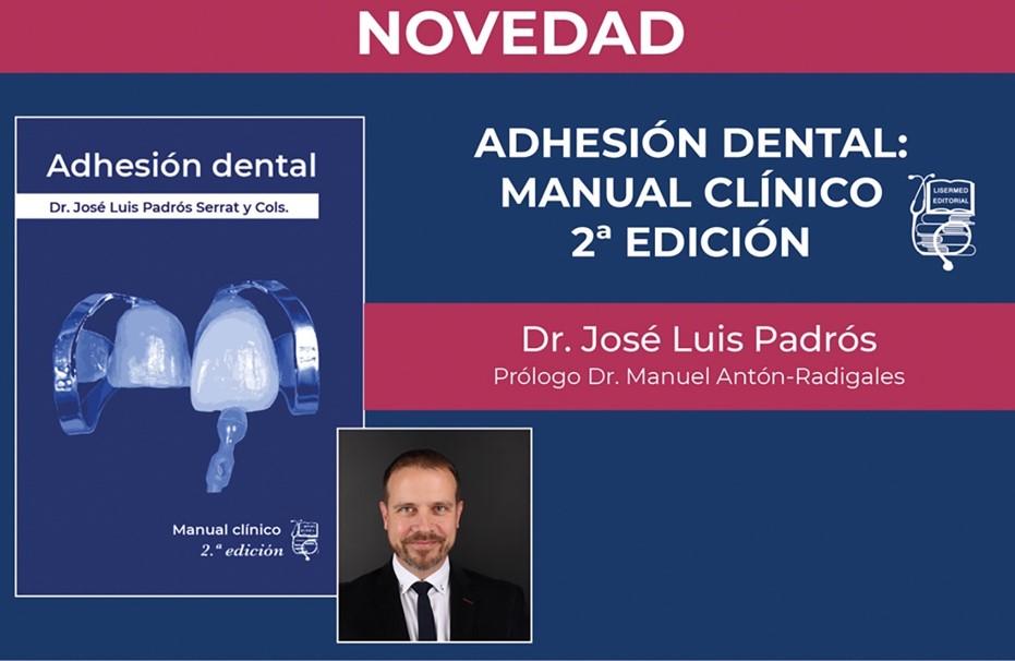 portada del llibre Adhesió dental, pautes d'actuació clínica. Publicació del llibre per Ed. Edicions Especialitzades Europees 2009